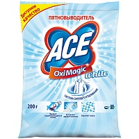 "Пятновыводитель Ace ""OxiMagic White"", порошок, 200г"